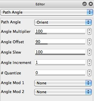 Screen shot of Path Angle Changed
