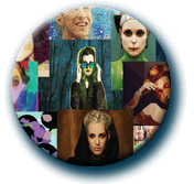 Mosaic Button with Studio Artist Images