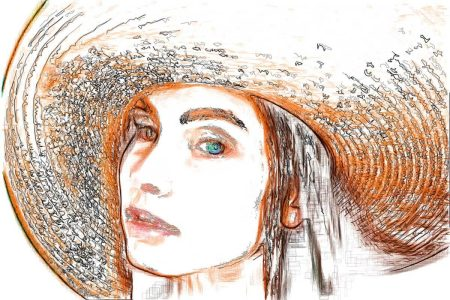 Girl with Hat 1